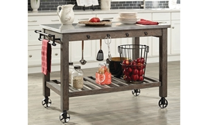 Picture of Scott Living Industrial White Oak Kitchen Cart