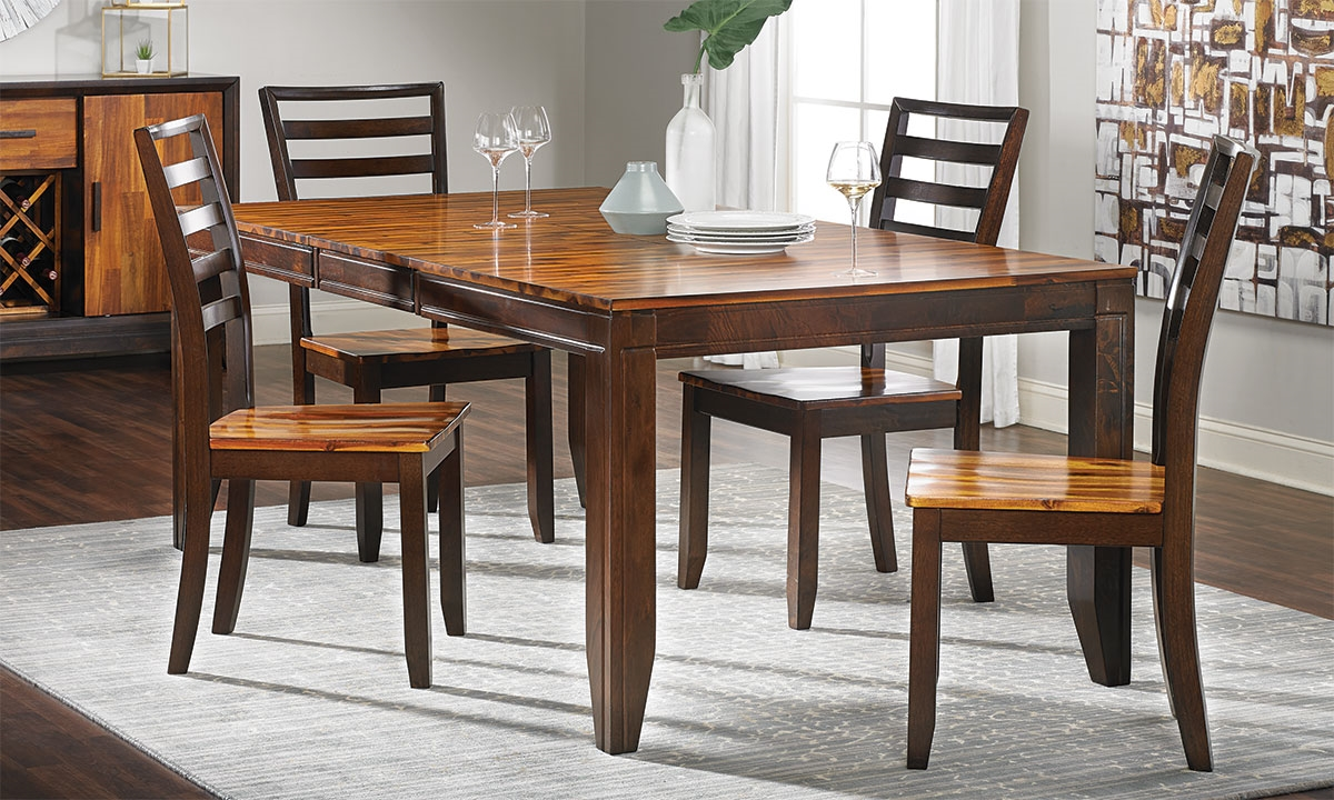 Rustic Amber Dining Room Set