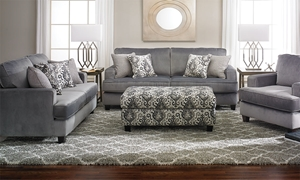 Picture of Merrimac Velvet Feel Flannel Track Arm Sofa