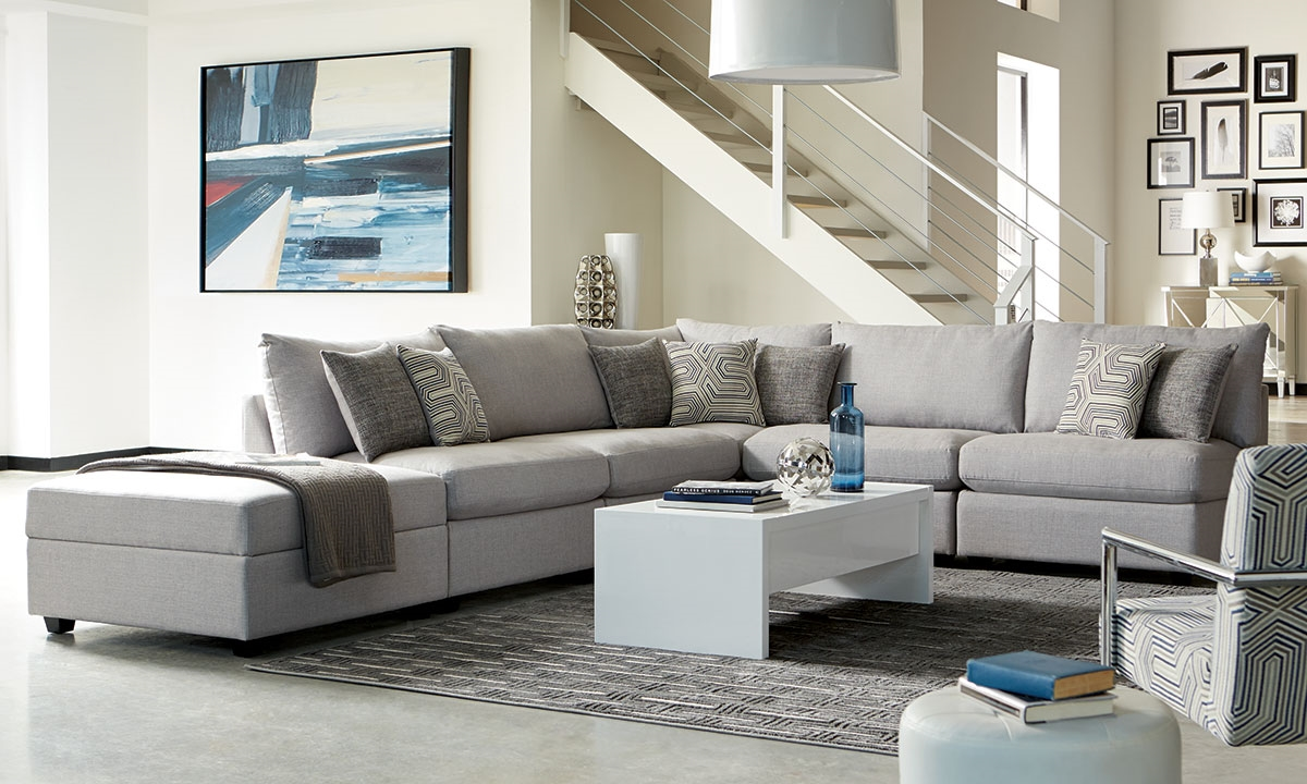Haynes furniture scott living charlotte modular sectional for Modular living room furniture