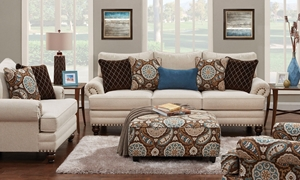 Picture of Anna 96-Inch Roll Arm Sofa with Nail Head Trim