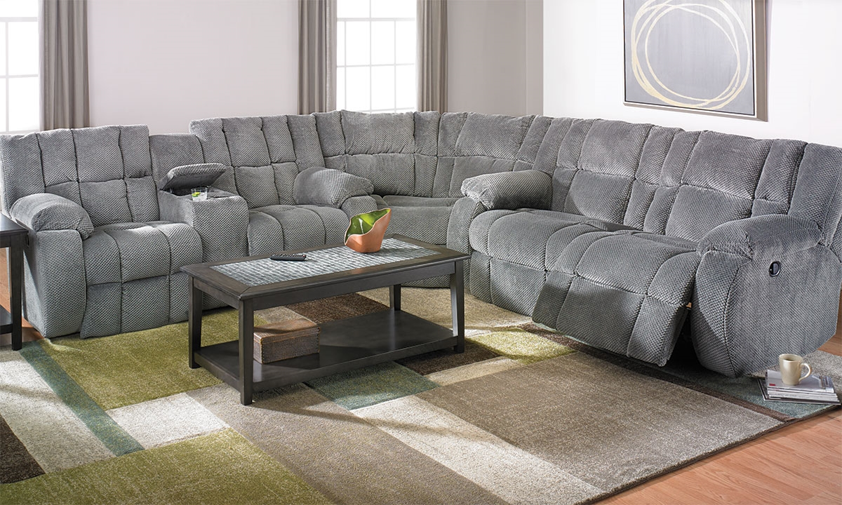 Klaussner Dozer Reclining Storage Sectional
