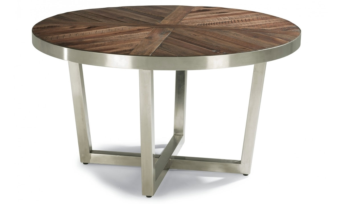 Haynes furniture axis round cocktail table for Table queens acacia