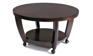 Picture of Hayden Round Cocktail Table with Casters