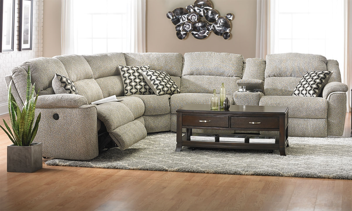 Haynes Furniture Triple Reclining Storage Sectional With Usb