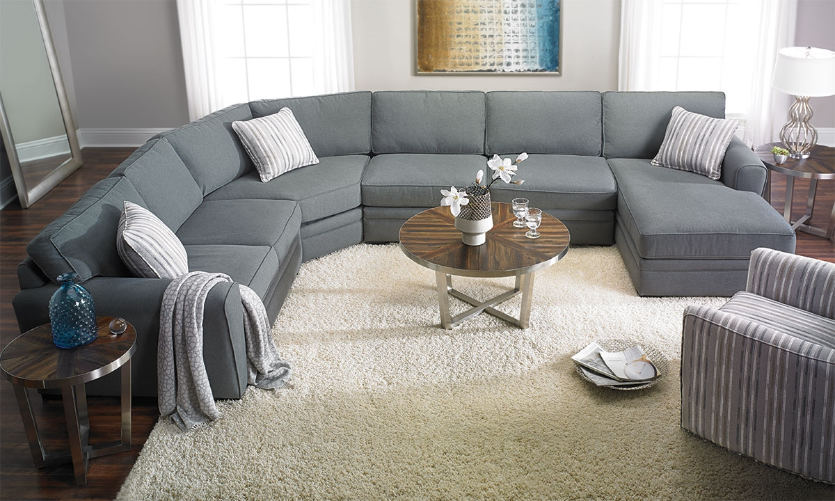 Artemis room size sectional with chaise haynes furniture - Apartment size sofa with chaise ...