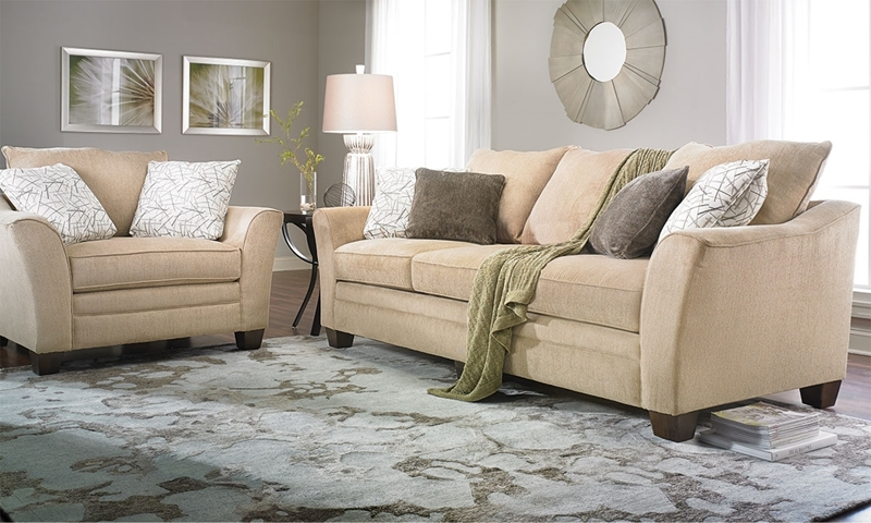 Picture of Klaussner Posen 99-Inch Flare Arm Sofa
