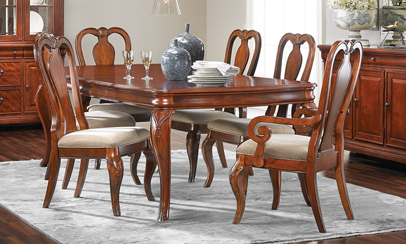 Evolution Queen Anne Dining 7-Piece Set | Haynes Furniture