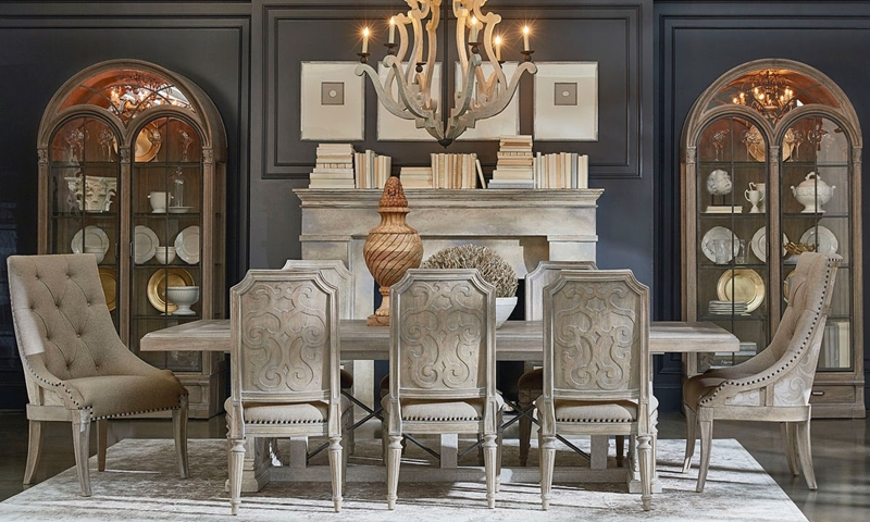 ART Architectural Salvage 48Piece Dining Set Haynes Furniture Gorgeous Art Dining Room Furniture