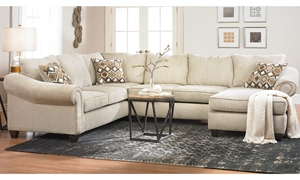 Picture of Roll Arm Sectional with Reversible Chaise