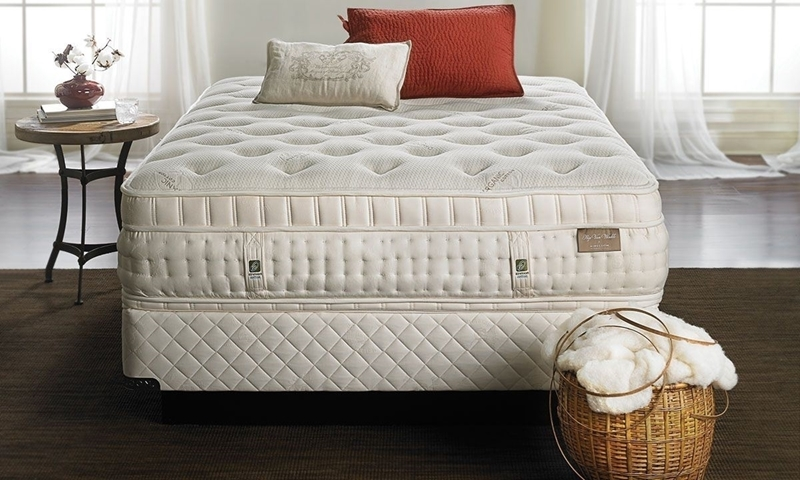 Aireloom's Rip Van Winkle cameron queen size mattress comes infused with premium organic cotton, wool, & silk fibers  with ventilated talalay latex layers.
