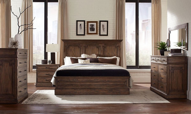 Picture of Vintage Solid Mahogany Queen Panel Bedroom
