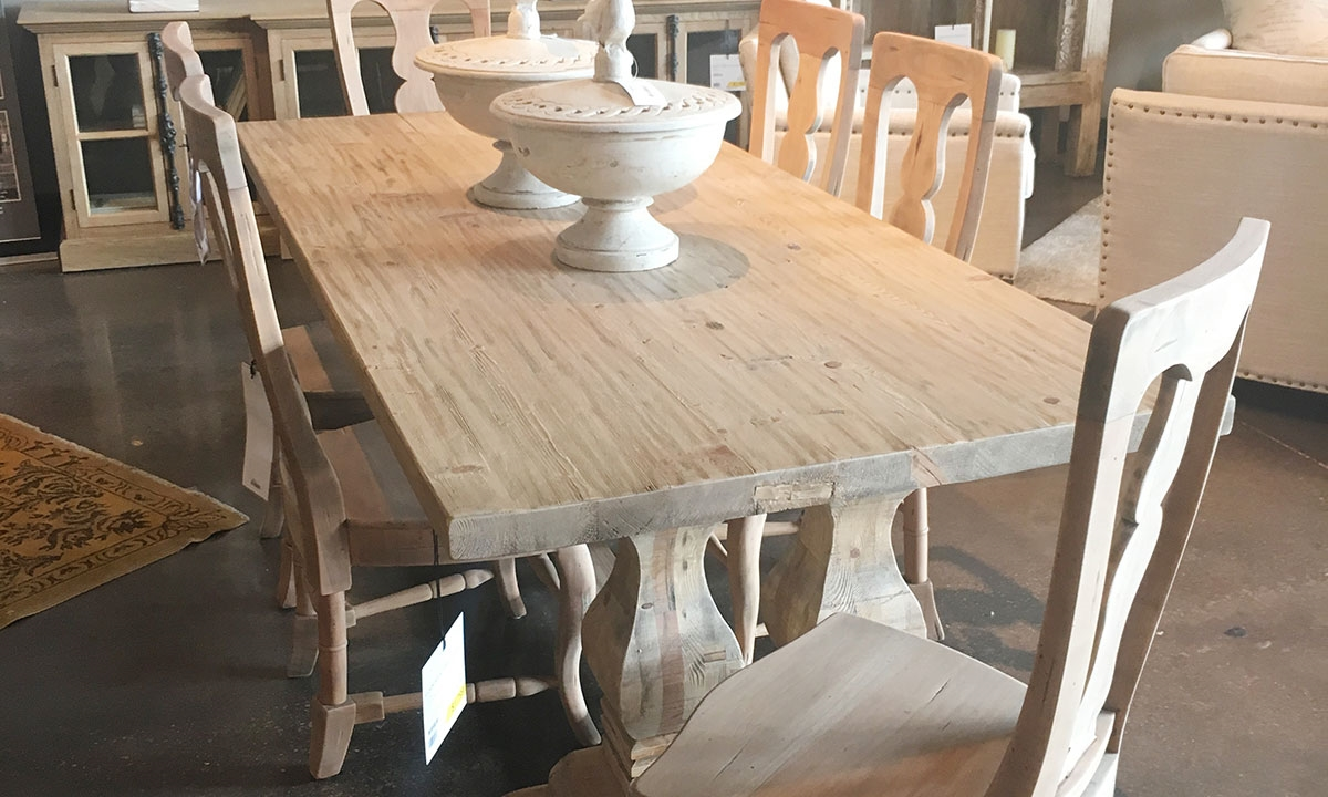 Manor House Reclaimed Pine Amp Elm Trestle Table Haynes