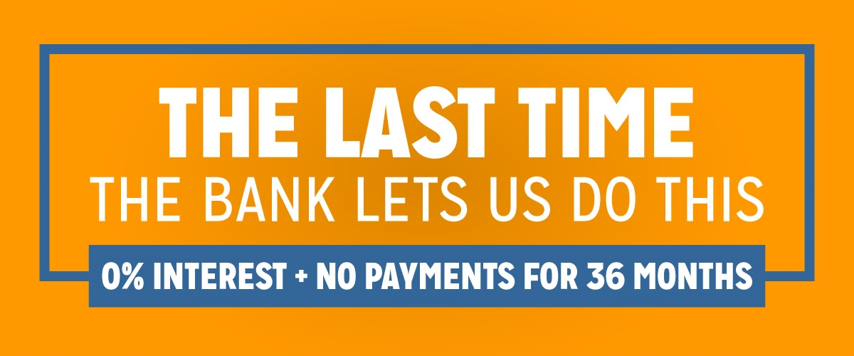 The Last Time The Bank Lets Us Do This 0% Interest + No Payments for 36 Months