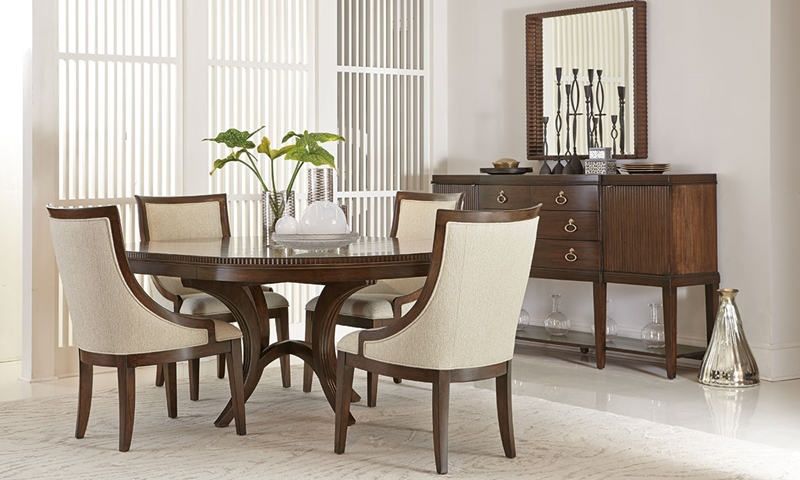 Magnificent Bernhardt Beverly Glen Round Dining Set Haynes Furniture Interior Design Ideas Ghosoteloinfo