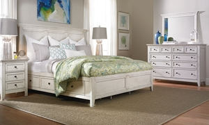 Picture of San Mateo White Arts & Crafts Queen Storage Bedroom