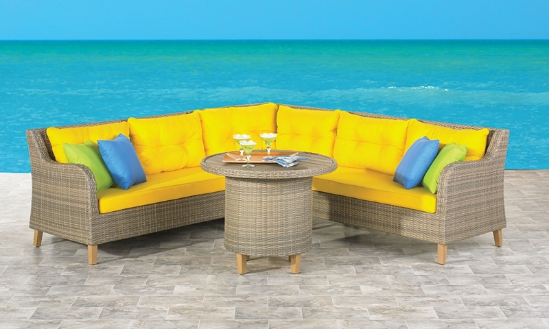 Picture of Solstice Outdoor Sectional & Cocktail Table Set