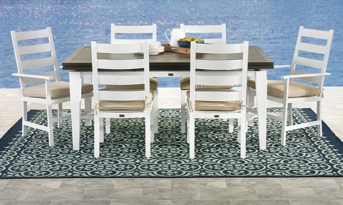 Picture Of Mountain Side 7 Piece Outdoor Dining Set
