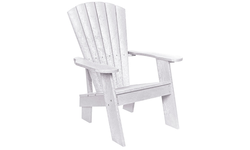 Picture of White Fade-Resistant Heavy-Duty Adirondack Chair