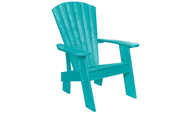 Picture Of Turquoise Fade Resistant Heavy Duty Adirondack Chair