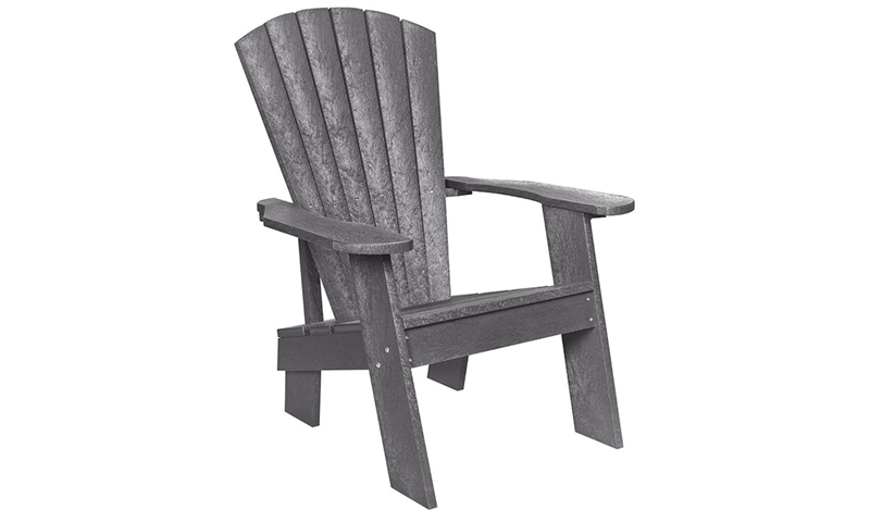 Grey Fade-Resistant Heavy-Duty Adirondack Chair  sc 1 st  Haynes Furniture : milk jug adirondack chairs - Cheerinfomania.Com