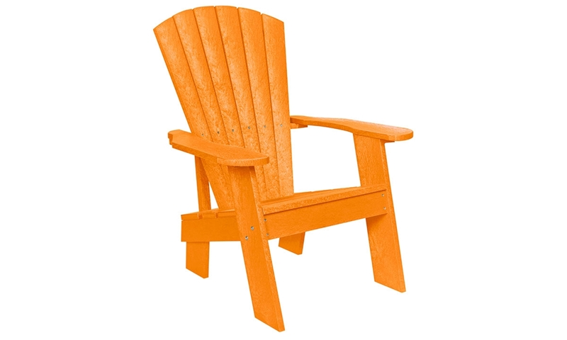 Picture of Orange Fade-Resistant Heavy-Duty Adirondack Chair