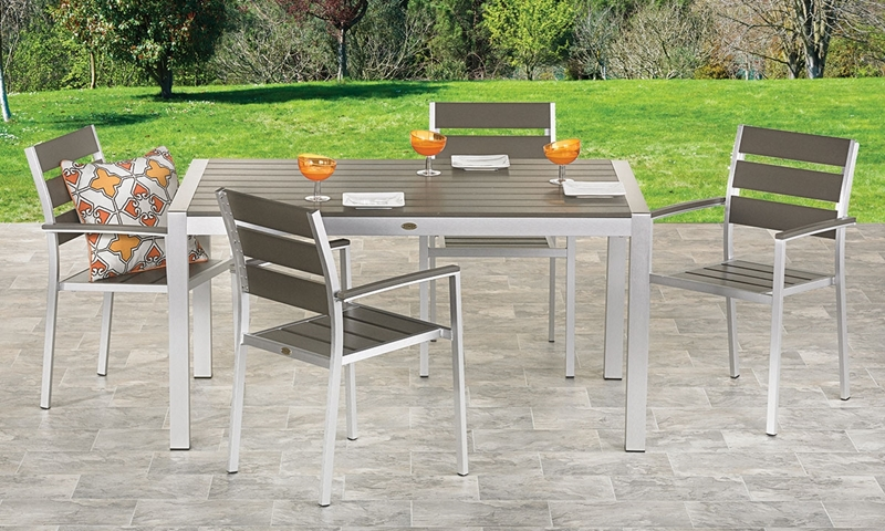 Artisan 5 Piece Contemporary Outdoor Dining Set