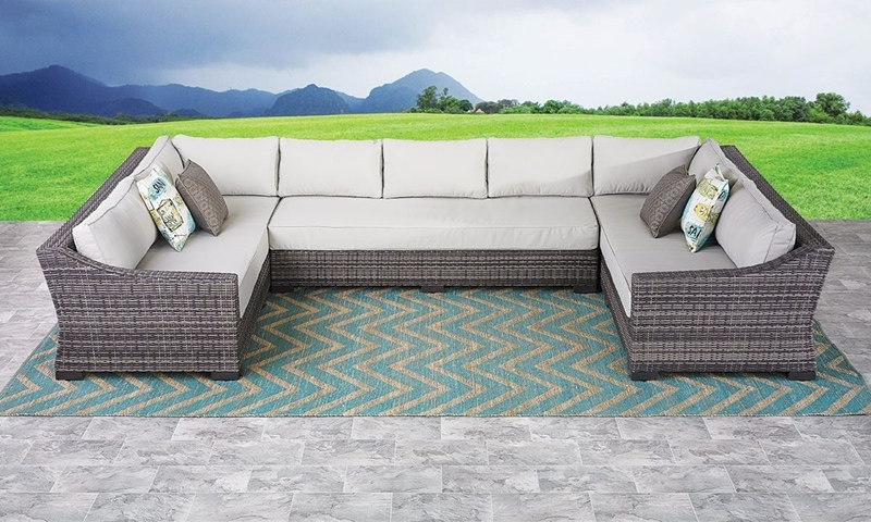 Picture of Malibu Hand-Woven Resin Wicker Outdoor Sectional