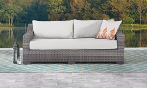 Picture of Malibu Hand-Woven Resin Wicker Outdoor Sofa