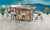 Picture of Sedona Pub Height Fire Pit Gathering Set