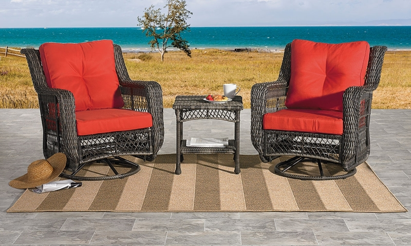 Picture of Cape Cod Outdoor Swivel Glider & Side Table Set