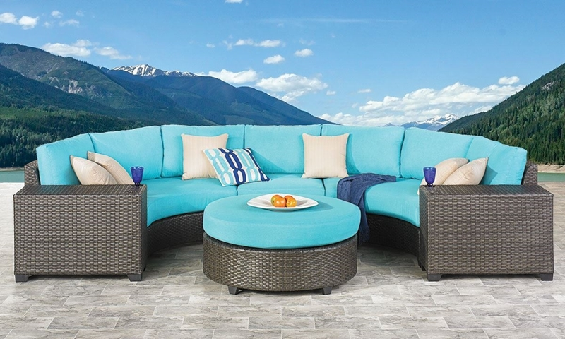 Picture of Palm Springs Sectional, Side Table & Ottoman Set