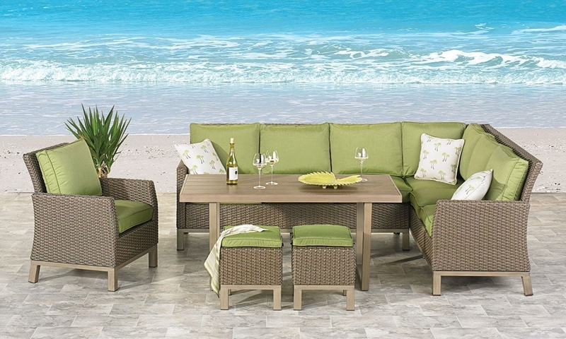 Picture of Long Beach 6-Piece Outdoor Banquette Set