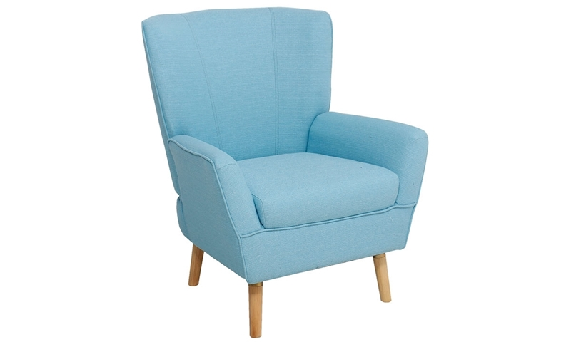Mid-Century Modern Flare Arm Accent Chair