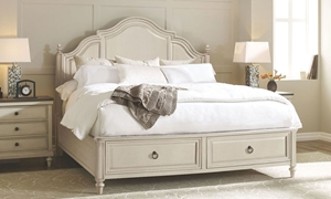 Brookhaven Paneled Queen Storage Bed