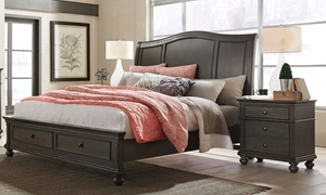 Aspenhome Oxford Peppercorn Queen Sleigh Storage Bed