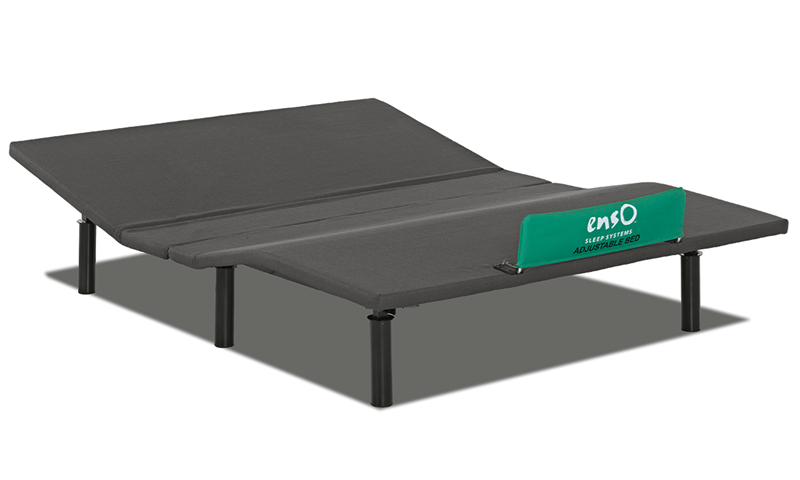 Enso Queen Mattress Base with Wireless Remote and Full Range Head and Foot Adjustment - Slightly Elevated