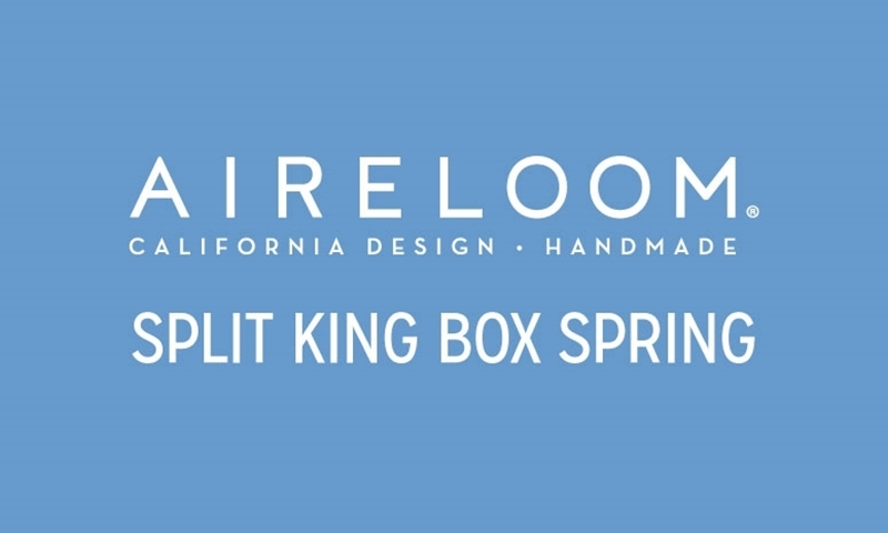 "Aireloom Swirl Split King 9"" Box Spring"
