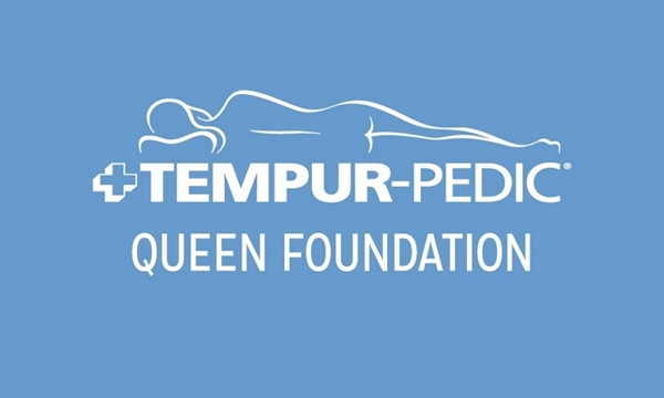 "Tempur-Pedic Grey Queen 9"" Foundation"