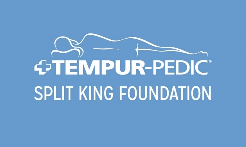 "Tempur-Pedic Charcoal Split King 9"" Foundation"