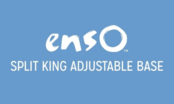 Enso Split King Power Mattress Base with Wireless Remote featuring Massage and Full Range Head and Foot Adjustments
