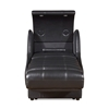 Era Nouveau Enfinity Lounger Entertainment Pod in Black Leather with Bluetooth Capabilities, USB Charging and Touch Lighting - Full Reclined View