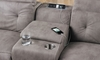 Storage sectional sofa with cup holder, USB and AC Outlets in Gray Fabric