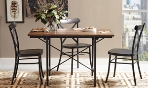 Industrial Wood & Metal 5-Piece Dinette
