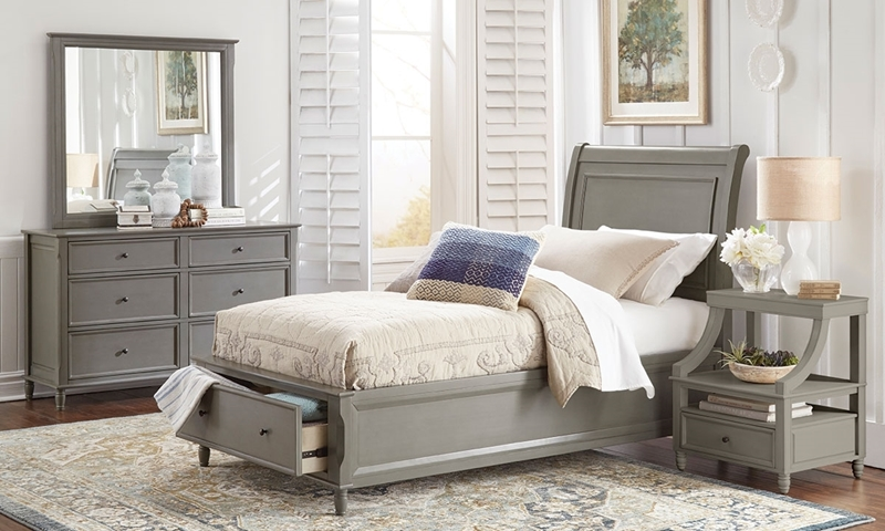 Avignon Grey Twin Storage Bedroom | Haynes Furniture