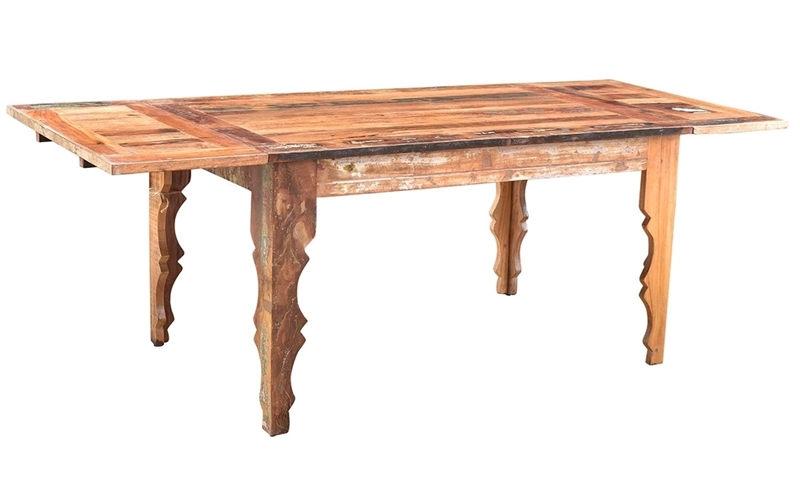 Bali Handmade Solid Wood Extension Dining Table