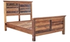 Mumbai Handcrafted Solid Wood King Panel Bed