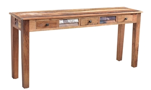 Nepal 70-Inch Handcrafted Solid Wood Console Table