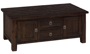 Kona Grove Solid Acacia Castered Storage Cocktail Table