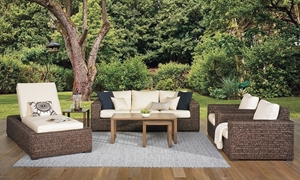 Odeon All-Weather Banana Weave 6-Piece Outdoor Living Room